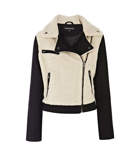 Warehouse Borg Biker Blazer ($134)