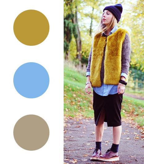 Daniella Robbins of Lella Victoria  Citron+ Baby Blue +Oatmeal