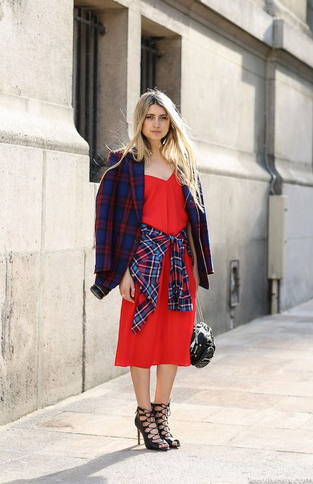 Feminine Plaid On Plaid, Straight From The Streets Of Paris And São Paulo