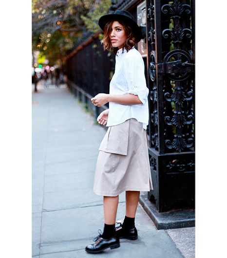 Christina Caradona of Trop Rouge  On Caradona: Otte hat; Kisua top and skirt; Other Stories shoes