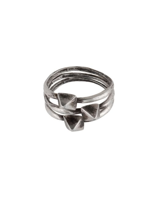 Set of 3 Silver Pyramid Stack Rings ($115)