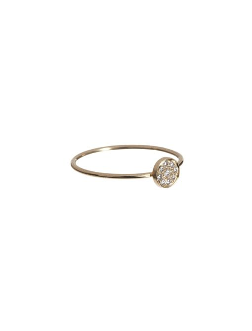Diamond Circle Ring ($450) in 18K Yellow Gold