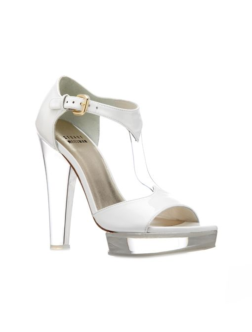 Review Heels ($435) in White Patent