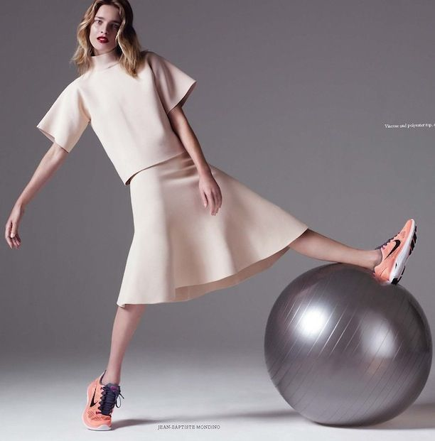 Sporty Sneakers Get The Minimal Chic Treatment In Harper's Bazaar UK