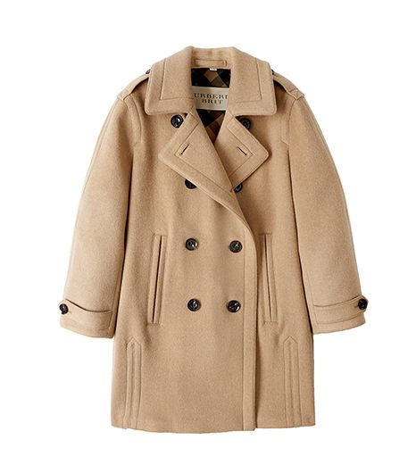 Wool and Camel Hair Double-Breasted Cocoon Coat