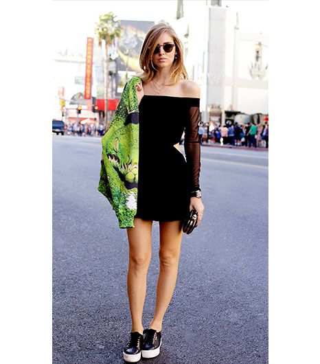 3. Top With A Printed Bomber   Leave it to Chiara Ferragni of The Blonde Salad to make a dress usually reserved for evening events, street style-appropriate. Her secret to pulling it off?...