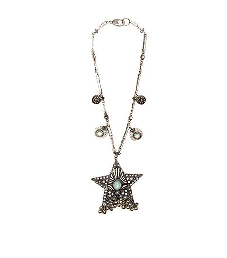 Mango Ethnic Style Necklace ($24) in Silver