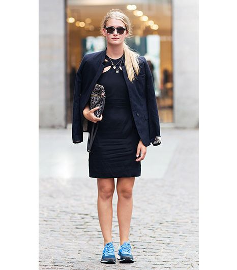 8. Pair With Sneakers   Wearing a cocktail-appropriate LBD with tennis shoes is a bold move, but for those daring enough, it can provide a delightfully unexpected contrast. See more ways to wear...