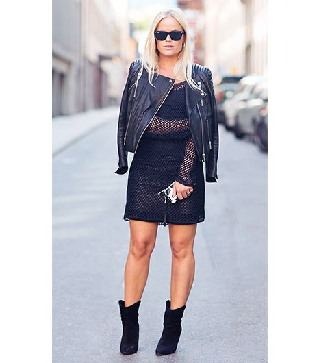 9. Layer A Fishnet Dress On Top 