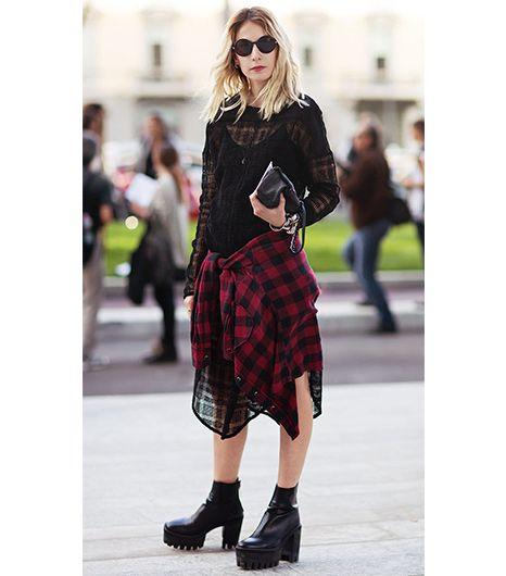 10. Tie A Flannel Around Your Waist 