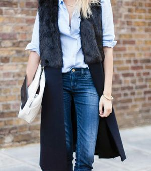 Avoid Looking Bulky When It's Cold With This Chic Outerwear Trend