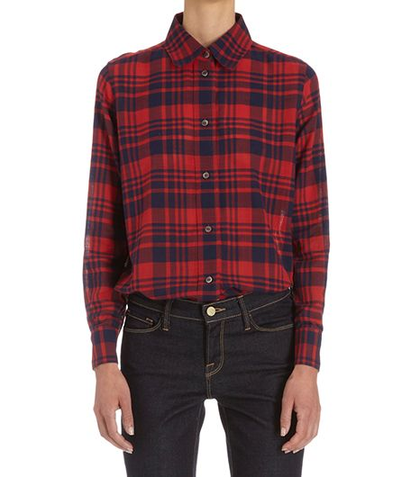 A.P.C. Plaid Long Sleeve Shirt ($215)