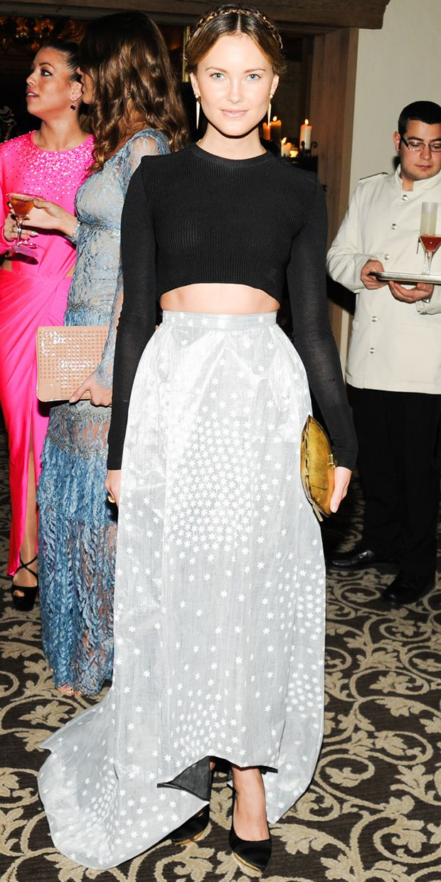 Kyleigh Kuhn Dresses Up The Midriff Trend