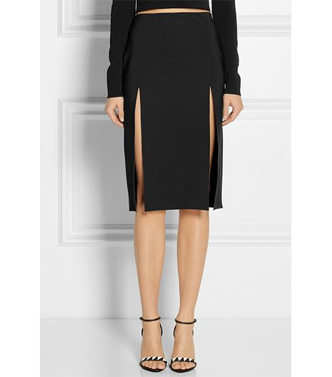 Versus Split Scuba-Jersey Skirt ($345)