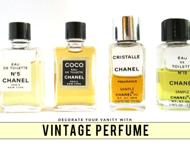 Decorate Your Vanity With Vintage Perfume Bottles