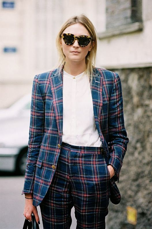 Plaid Pant Suit Inspiration Straight From The Streets