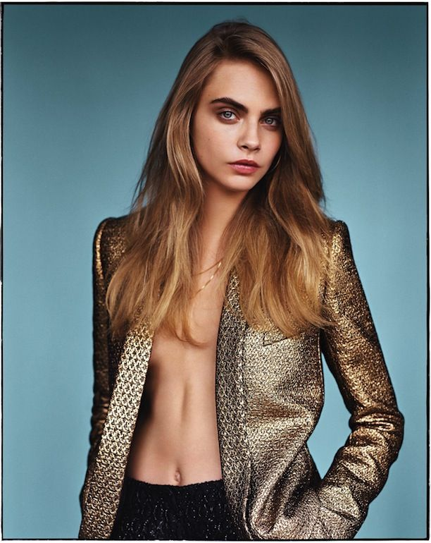 Cara Delevingne Covers Vogue UK's January Issue