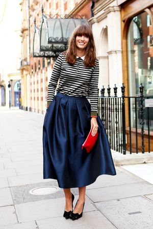 Classic Blouse & Full Skirt, See The Lady-Like Street Style Shots