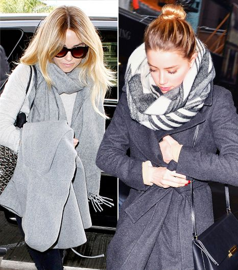 See How 10 Celebs Style Their Scarves for Winter