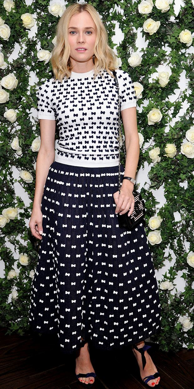 Diane Kruger's Charming Take On Matching Prints