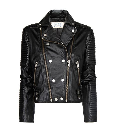 Mango Leather Biker Jacket ($290)
