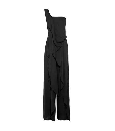 Donna Karan One-Shoulder Georgette Jumpsuit ($869)