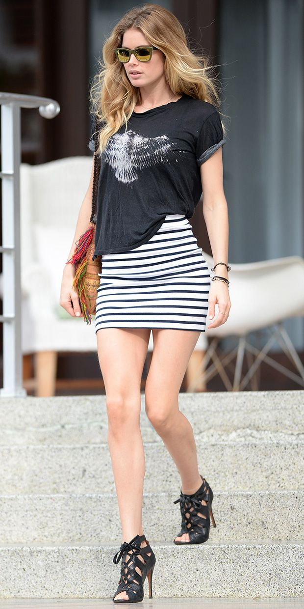 Doutzen Kroes Earns Her Stripes In Alexander Wang.