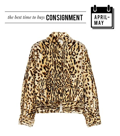 April/May: Thrift & Consignment  You have spring cleaning to credit for the influx of gems to be found at thrift and consignment stores during these two months.  Tamara Mellon Leopard-Print...
