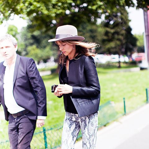 Style Tip: A medium-brimmed hat is always a good idea.