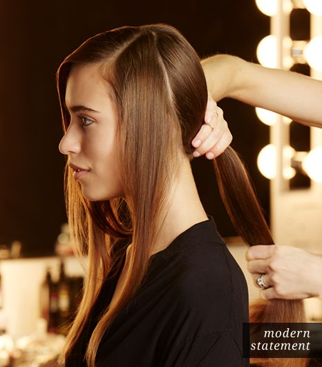 Hair: Create Three Sections And A Ponytail