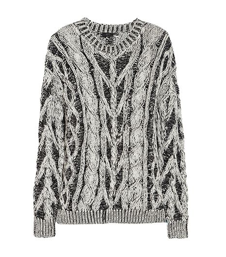 Joseph Two-Tone Cable-Knit Cotton Sweater ($395)