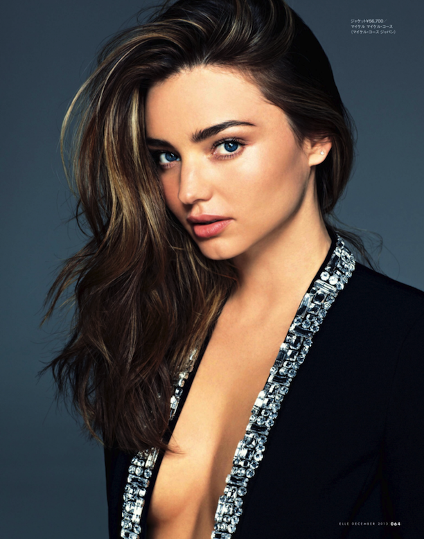 Miranda Kerr In A Mix Of Black And Silver For ELLE Japan