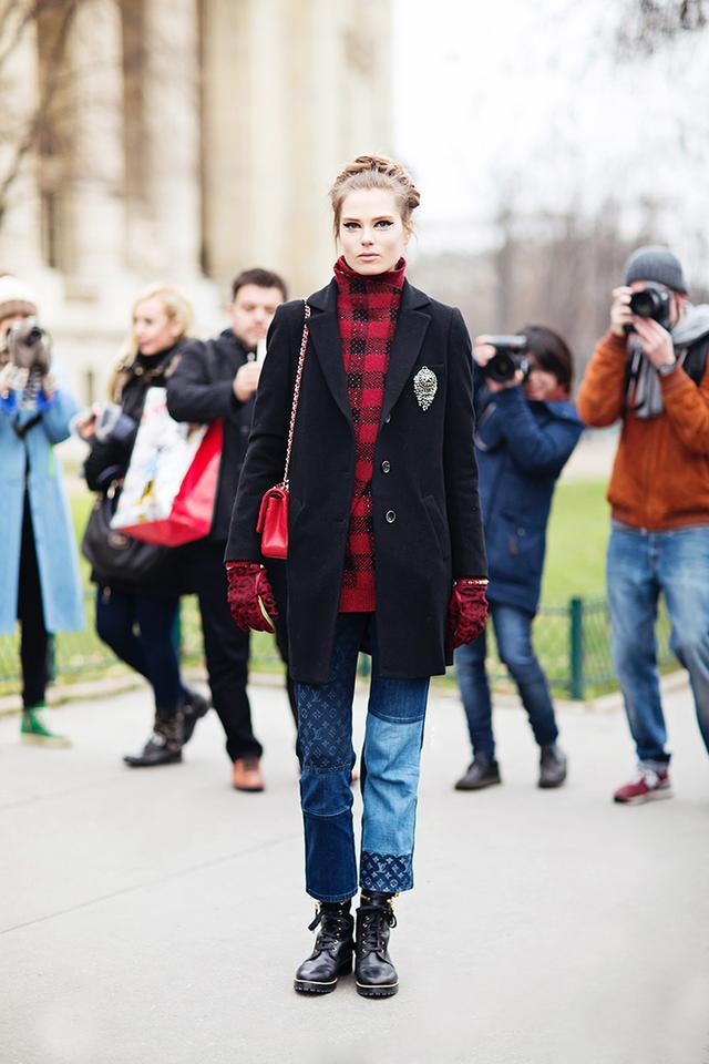 Feminine + Edgy  Caroline Brasch Nielsen  Image courtesy ofStockholm Street Style