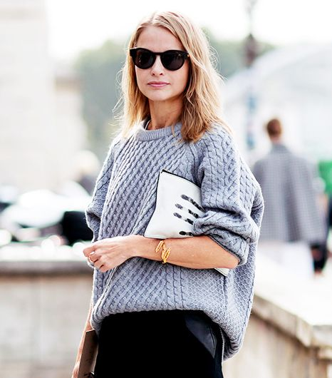 7 Inspiring Ways To Reinvent A Grey Sweater Whowhatwear Uk