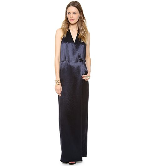 Tibi Long Draped Dress ($495) 