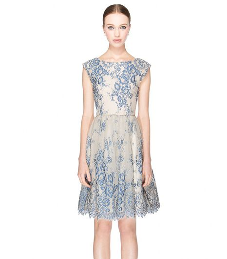 Alice + Olivia Fila Flare Box Pleat Dress ($597) 