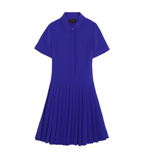 J.Crew Collection Pleated Crepe Shirt Dress ($198) 