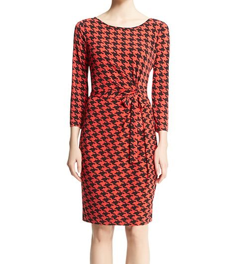 Anne Klein Houndstooth Wrap Dress ($99) 