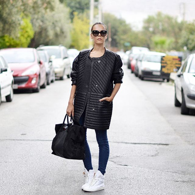 Styleheroine is wearing: Carven bag, J Brand jeans, Maison Martin Margiela sneakers, Celine sunglasses, Isabel Marant coat.