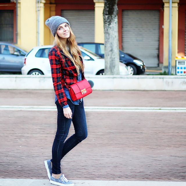 Caramode is wearing: ASOS bag, Superga sneakers.