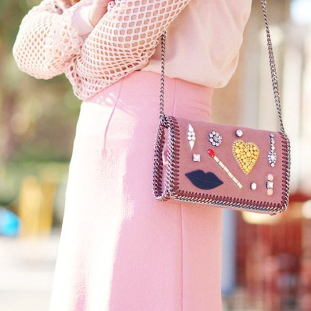 Halliedaily is wearing: Stella McCartney bag.