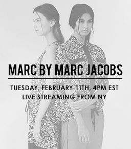 Watch the Marc By Marc Jacobs Fall 2014 Runway Show Live
