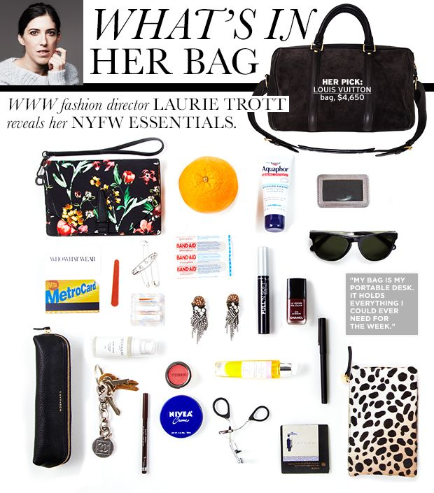 See inside our Fashion Director's handbag.