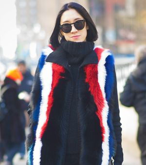 Eva Chen's Amazing Technicolor NYFW Coats