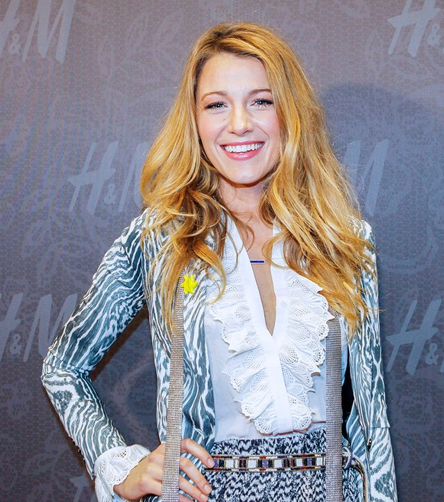 Blake Lively   While precious metals are perfectly lovely, why not kick it up a notch with a colored bauble, like Lively's Jennifer Meyer Lapis Inlay and Diamond Bar Necklace ($3,750)?