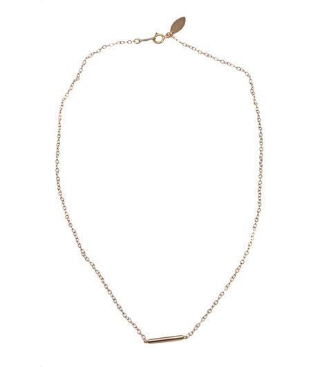If understated is your game, then this delicate necklace will be your MVP.   Devon Pavlovits Tiny Bar Necklace($65)