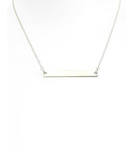We can't believe the price on this silver Topshop version.  Topshop Simple Bar Necklace($13)