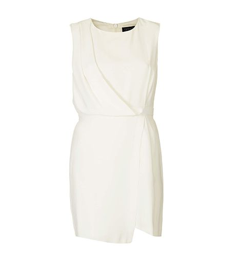 The draped wrap detail is flattering on every form.  Topshop Drape Shift Dress ($92)