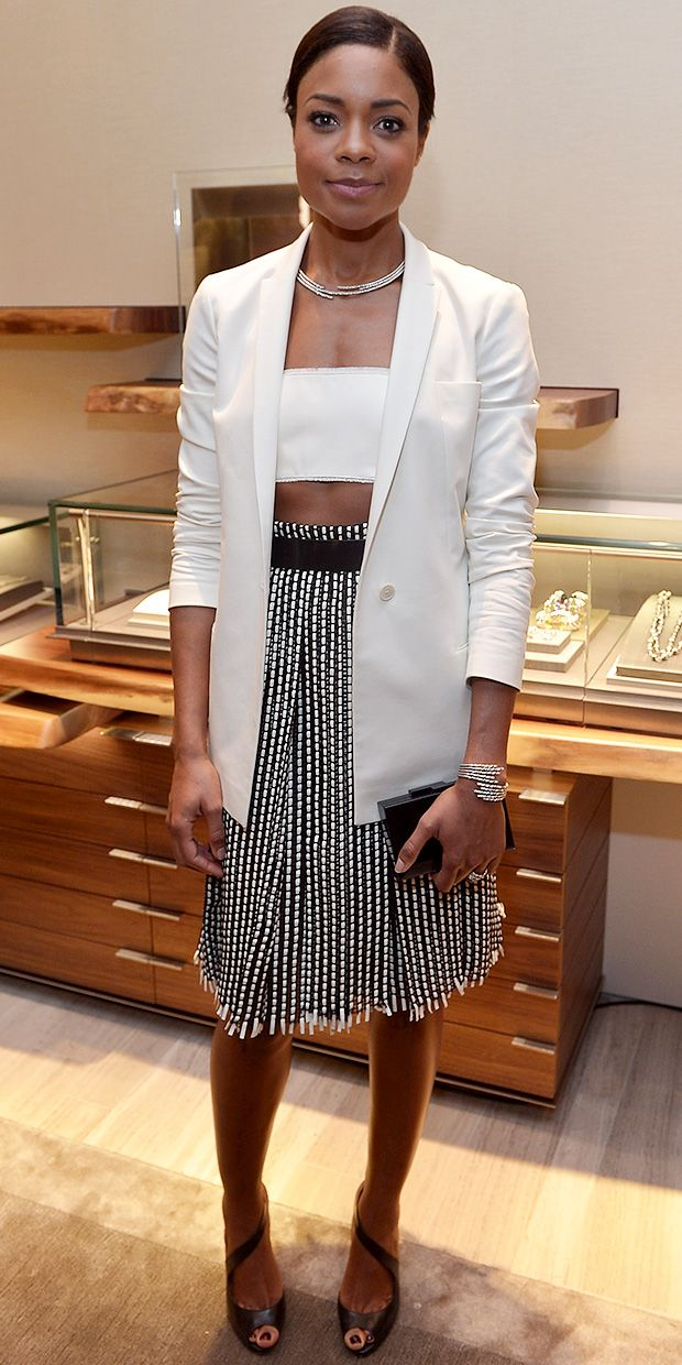 Naomie Harris' After-Hours Take On The White Blazer