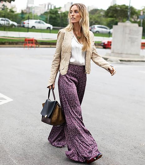 Wide-Leg Silk Trousers